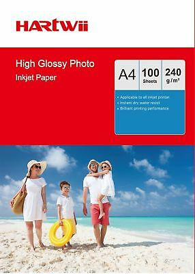100-1000 Sheets A4 230 240 Gsm High Glossy Photo Paper Inkjet Paper  Hartwii