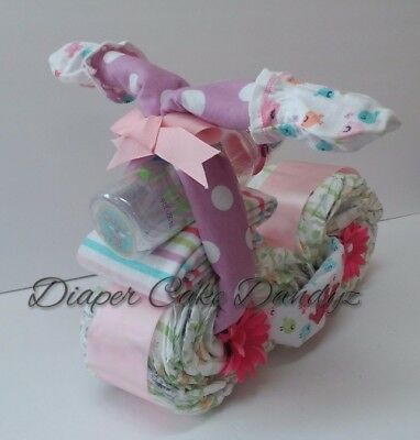 diaper cake motorcycle for girl baby shower baby gift