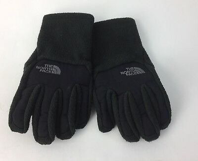 The North Face Boy's Denali UR Powered Gloves Black Size Small