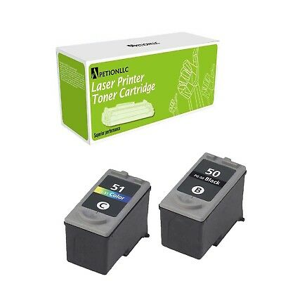 2PK Compatible PG-50 Black CL-51 Color ink Cartridge For Canon MP150 160 170