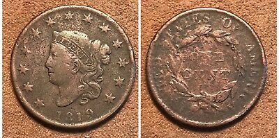 1819 Large Cent VF #31G10