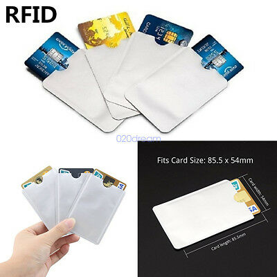 10Pcs HiGh Level RFID Blocking Aluminum Safety Sleeve Credit Card Protector