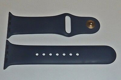 Original Apple Watch Sport BAND 38mm MIDNIGHT BLUE with gold pin - S/M - Genuine