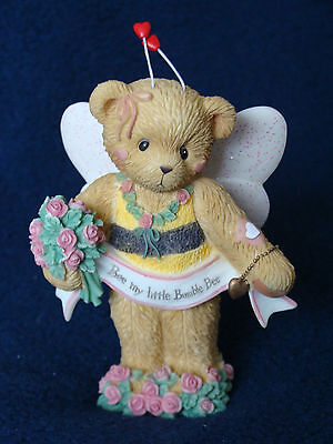 Cherished Teddies - Taylor - Bumble Bee w/Flowers Figurine - 0000804 - 2004
