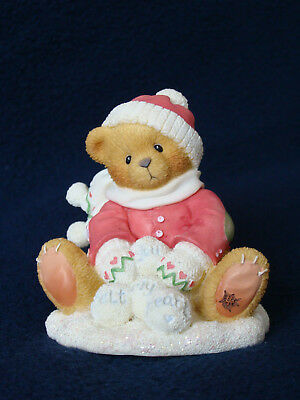 Cherished Teddies - Ted - Boy Sitting With Snowballs Figurine - 269727 - 1997