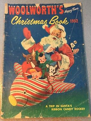 Vintage 1952 Woolworth's Happy Time Christmas Comic Book Santa Claus Rocket Trip