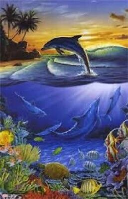 1999 Starline Ocean Fantasy Poster 22X34 New Fast Free Shipping