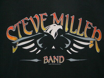 """Steve Miller Band """"fly Like An Eagle"""" T Shirt Xl Heavy Cotton Vintage-Look Anvil"""