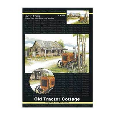 Country Threads X stitch Counted Cross Stitch Pattern OLD TRACTOR COTTAGE NEW