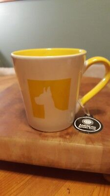 American Kennel Club Dog Silhouette 20Oz Mug New With Tags Yellow