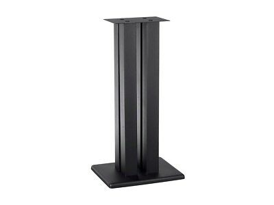"24"" inch Speaker Stand Platform Durable Steel Design w/ Adjustable Spikes Black"