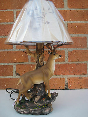 DEER WHITETAIL BUCK TABLE LAMP Deer Table Lamp Decoration Lodge Cabin
