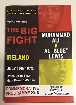 "2016 Muhammad Ali vs Al ""Blue"" Lewis LIMITED EDITION Boxing Programme"