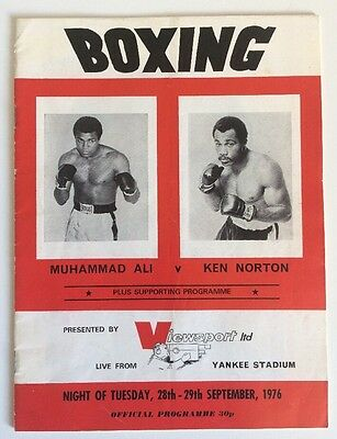 1976 Muhammad Ali vs Ken Norton CC Boxing Programme Viewsport