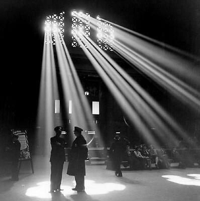 Vintage Chicago Union Train Station 1943 Police Officers Photo Reprint Picture