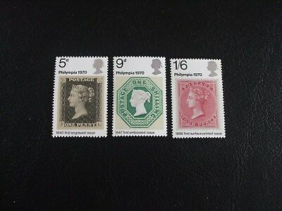 """Philympia 70"" Stamp Exhibition Great Britain 1970 Commemorative Stamps"