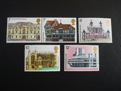 European Architecture Heritage Year Great Britain 1975 Commemorative Stamps