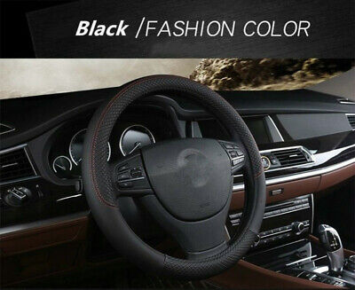 """15"""" Car Truck Steering Wheel Cover Leather Auto Car Cool Universal Fit Size"""