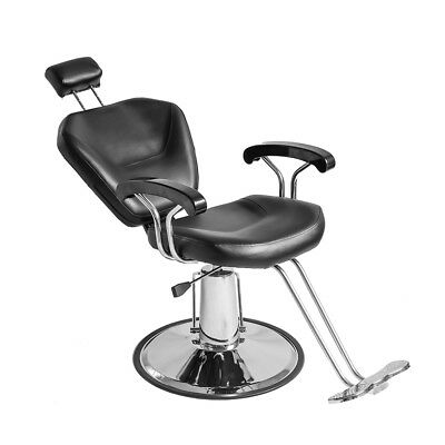 Reclining Hydraulic Barber Chair Salon Tattoo Hairdressing Threading Spa Beauty