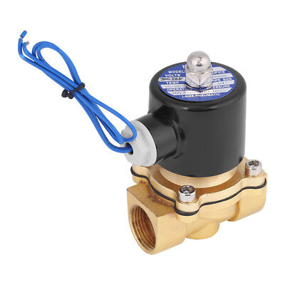 """Brass 12V DC 3/4"""" Electric Solenoid Valve Water Air Fuels Gas Normal Closed SG"""