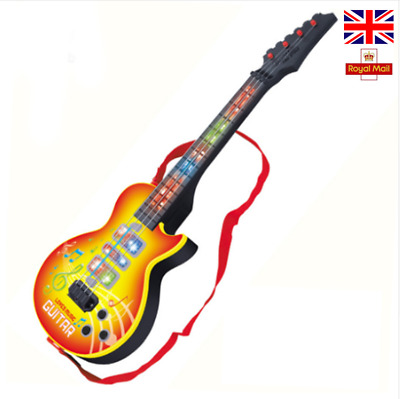Electric Guitar 4 Strings Kids Play Musical Instrument Educational Toy Xmas Gift