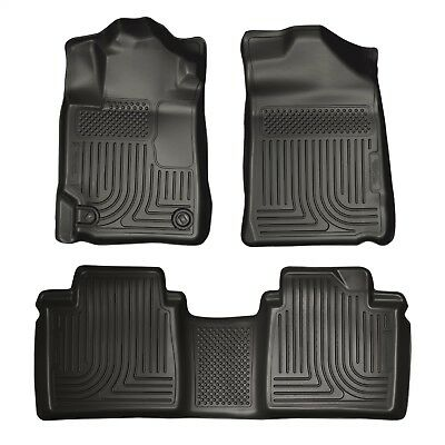 07 - 11 Toyota Camry Husky WeatherBeater Floor Mats Liners Black Front & Rear