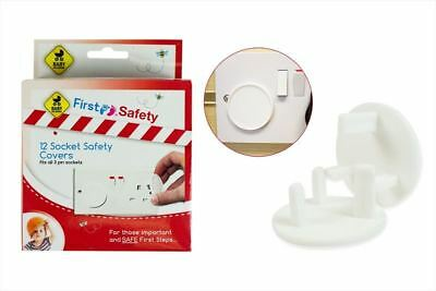 First Steps - 12pc Home Safety Plug Socket Covers Baby & Child Protector