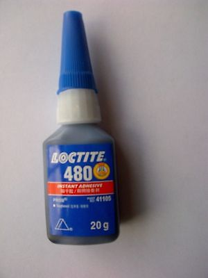 Loctite 480 Instant Adhesive ~ Great for Metal/rubber ~ 20g
