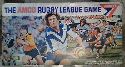 Vintage 1977 Amco Cup Rugby League Football Footy Board Game - Complete