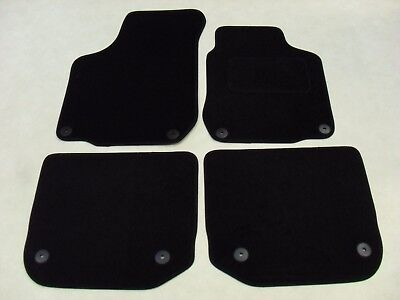 VW Beetle Convertible 2003-2010 Fully Tailored Deluxe Car Mats Black. VW Round