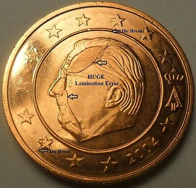 HUGE ERROR! 2004 BELGIUM - 2 Euro Cent  *** BRILLIANT_MS_UNCIRCULATED *** #A2BU