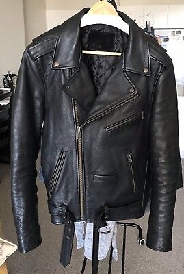 Neuw Berlin Genuine Leather Jacket Size L Black