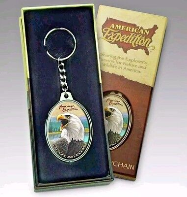 Collectible Bald Eagle Wildlife Key Chain in Decorative Box, New-Free Shipping!!