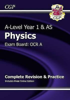New A-Level Physics: OCR A Year 1 & AS Complete  by CGP Books New Paperback Book