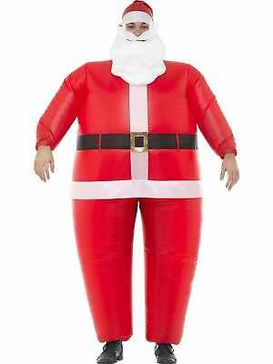 Christmas Santa Inflatable Costume Unisex Xmas Novelty Fancy Dress Outfit