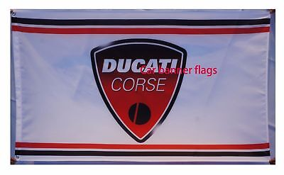 car racing banner ducati corse Flag free shipping 3x5FT 90x150cm motorcycle