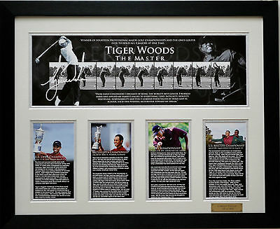 Tiger Woods 'the master' Limited Edition Signed Framed Memorabilia