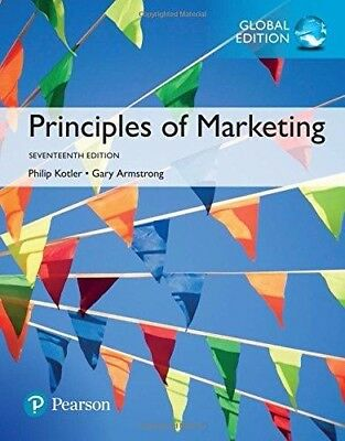 Principles of Marketing, 17th Global ed. by Kotler and Armstrong NEW!