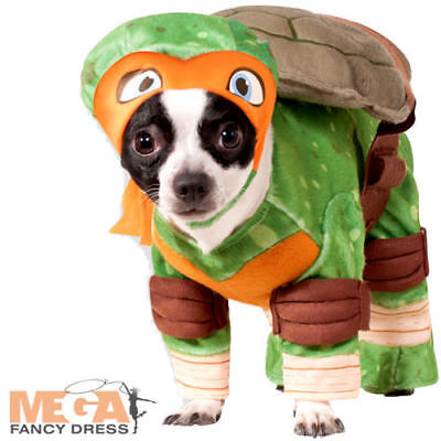 TMNT Michealangelo Dog Fancy Dress Superhero Teenage Mutant Ninja Turtle Costume