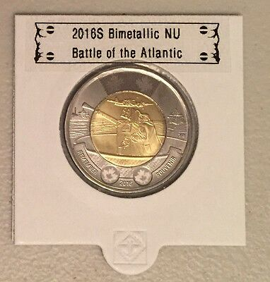 CANADA 2016 New 2$ TOONIES Battle of the Atlantic (BU directly from mint roll)