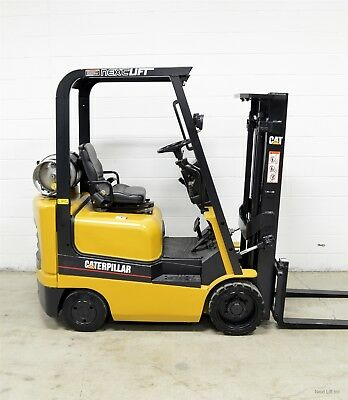 Nice! Caterpillar 3000 Lb Lpg Forklift 3,000 Cat Short Ohg 80""