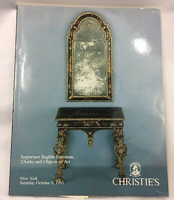 Christies NY Important English Furniture Clocks Objects of Art Catalog 10 9 1993