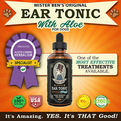 Dog Ear Cleaner by Mister Bens - Original Ear Tonic with Aloe for Dogs