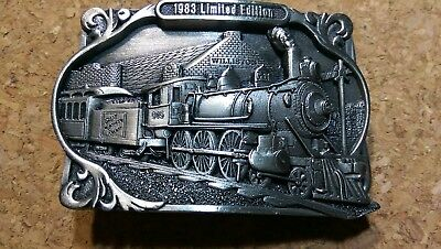 Great Northern Railroad Train Pewter Belt Buckle 1983 Limited Edition Williston