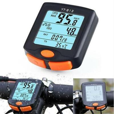 Waterproof Cycling Bike Bicycle Wireless Cycle Computer Odometer Speedometer 813