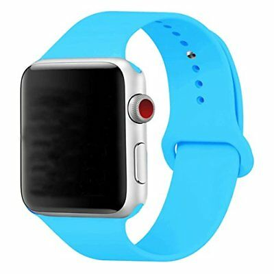 Band for Apple Watch 42mm Soft Silicon Strap Band for iWatch Series 1 2 3 Blue