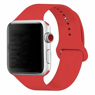 Band for Apple Watch 42mm Soft Silicon Strap Band for iWatch Series 1 2 3 Red