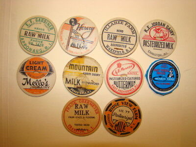 20 Diff.ri.rhode Island Farm,dairy,milk Bottle Caps #2