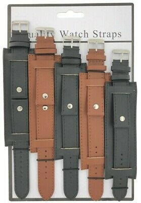 6 x Wholesale Job Lot Military Cuff Leather Watch Straps 18mm to 24mm