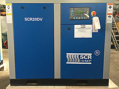 Industrial Air Compressor 15kW Variable Speed SCR Screw Compressor NEW!